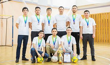 Прошли соревнования по мини-футболу