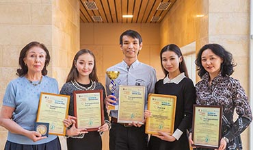 """The main cup from a meeting """"on the coasts of the Neva"""" at the Kazakh National Academy of Choreography"""